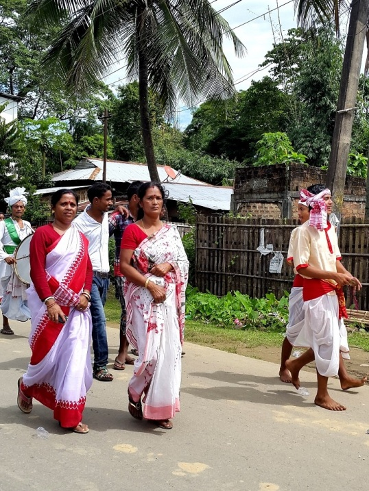 Silchar durga procession 1