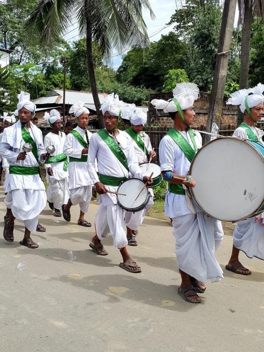 Silchar durga procession 2