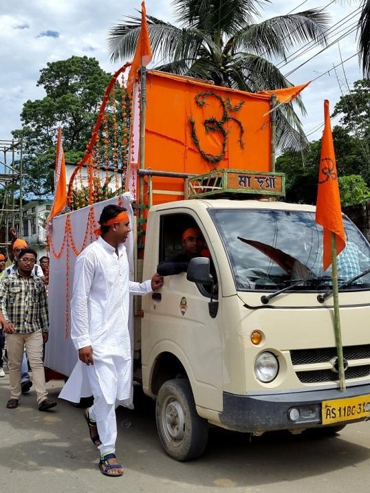 Silchar durga procession 3