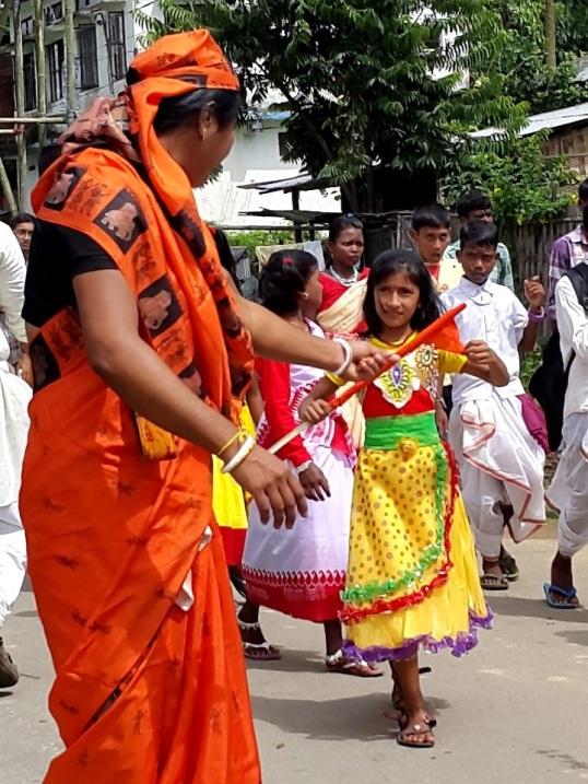 Silchar durga procession 4
