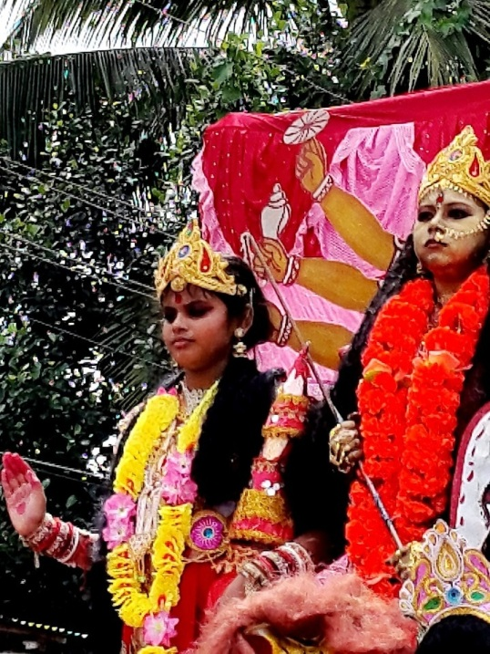 Silchar durga procession 7