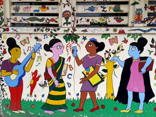 wall painting Modern High School Kolkata 1
