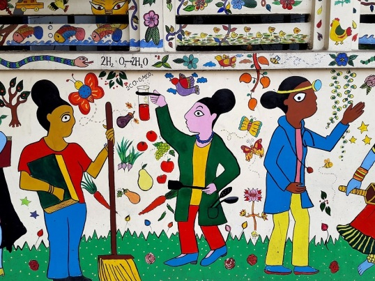 wall painting Modern High School Kolkata 2