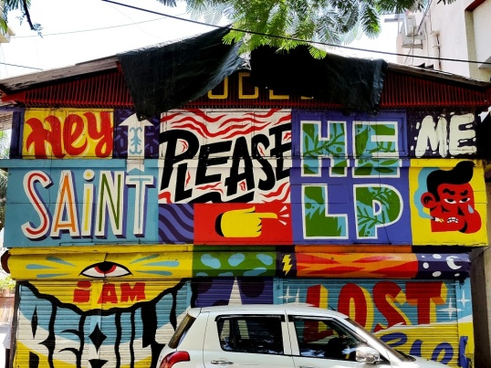 graffiti nagrana lane bandra 1